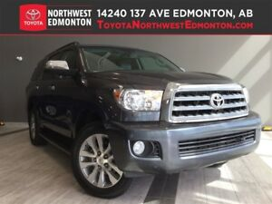 2014 Toyota Sequoia Limited   Leather   Pwr Fold Seats   Backup