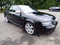 Audi S4, 4.2 V8 Quattro, 2004, FSH, Very nice condition, Black on Black.