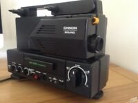 CHINON Super 8 Sound Cine Projector plus Extras Good Working Order