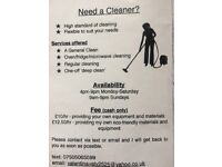Cleaner job