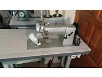 Adler 167-373 large bobbin walking foot sewing machine.