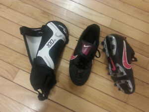 Women's Soccer Cleats and Shin Pads