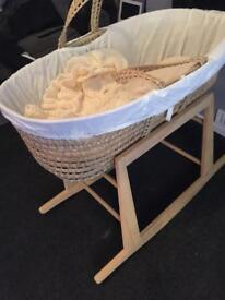 Moses basket, Baby monitor, Baby bath , Baby bouncer, Steriliser, Johnson's pack job lot.