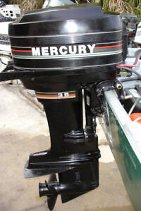 35 HP MERCURY 2 CYLINDER FOR PARTS 1987 TO 1989