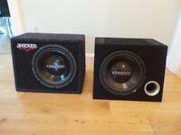 Kenwood Box-Type car speakers. Housing KFC-W300S , 30cm 600w speakers
