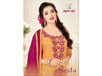SAJDA WHOLESALE EMBROIDERED DRESS MATERIAL