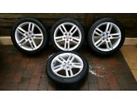 "Original Audi A6 18"" S Line alloy wheels & tyers."