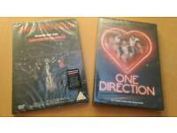 One Direction 2 x DVDs Brand New and Sealed