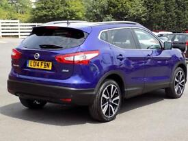 NISSAN QASHQAI 1.5 DCi TEKNA 5dr * Leather Nav & Pan Roof * * Lea (blue) 2014