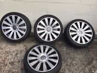 Audi/VW 18-inch alloys and tyres