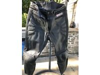 Akito G Force Black Leather Trousers