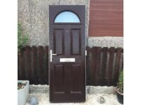 FOR SALE UPVC COMPOSITE FRONT DOOR WITH FRAME BROWN COLOR