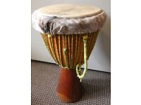 Large African Djembe Drum with Carry Case.