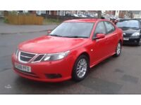 SAAB 9-3 AIRFLOW 1,9 TID 2008 RED 111K FULL SERVICE HISTORY LADY OWNED FULL 12 MONTHS MOT P/X WELCOM