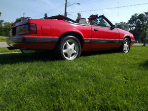 1986 mustang gt convertible 5.0   $5900.00 FIRM  (back now)