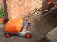 FLYMO LAWN RAKE SCARIFIER COMPACT 3400 - HARDLY USED.