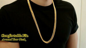 "Solid 14 k Gold Cuban Link Chain 129 grm 30"" Long"