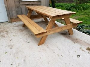 6 FT PICNIC TABLE - CEDAR or SPRUCE PT