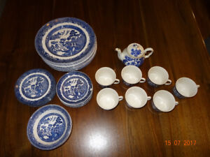 "Johnson Bros ""Willow"" Assorted Dishes etc. Pier One/Bed Bath"