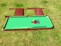 Kids snooker table 4ft by 3ft