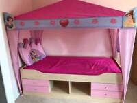 Childs Single bed with Princess canopy