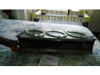 Brand New food hostess,food warmer also drawer inside drop front.