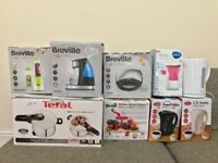 job lot kitchen appliances, kettle, pressure cooker, blander, water filter, toaster and more