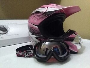 excellent condition helmet and goggles