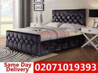 Brand New Double Crush velvet bed and mattress Herndon