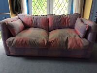 sofa bed and door beads