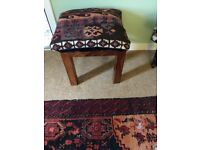 SOLID SHEESHAM WOOD SEATS/STOOLS/SIDE TABLES X 4