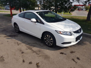 2013 Honda Civic EX, 5 sp, loaded, sunroof, only 19,000 km.