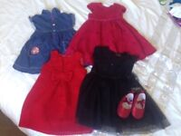 Girls 12-18 month dress bundle and new shoes