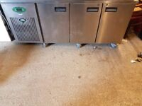 Ex Pizza Hut Under counter fridge 3dr. Good Working Condition. £500 ono