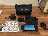 PSP Console, 8 Games (including Metal Slug Anthology) and extras