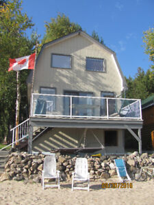 Cabin on Shuswap Lake, 11 km west of Salmon Arm. Off season.