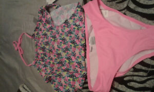 BRAND NEW WITH TAGS OLD NAVY GIRLS TWO PIECE BATHING SUIT