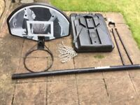 Freestanding basketball stand and hoop with net