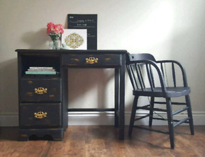 Beautiful Vintage Style Desk and Armchair