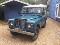 Land Rover Series 3 1974, solid vehicle, rebuilt from ground up few years ago on galvanised chassis.
