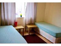 Beautiful twin room in Mile End, 2 weeks deposit,