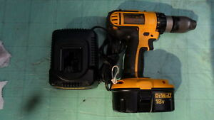 DeWalt 18 volt NiCad drill, battery and charger $45.