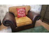 Chesterfield style half leather 3 & 1 sofa suite
