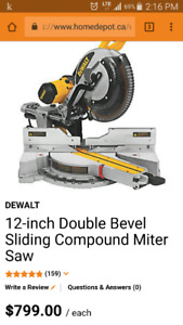 Reduced price 12-inch double bevel sliding compound miter saw