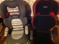 Car seats x2 available for Toddler upwards