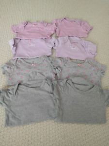 Size 24 months girl onesies, short sleeves