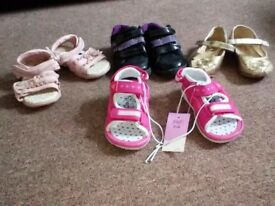 4 pairs of Girls size 4 shoes