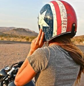 CASQUES MOTO OPEN-FACE TORC T-50 LUCKY 13 & FLAKES