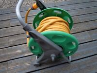 HOZELOCK HOSE REEL WITH HOSE PIPE