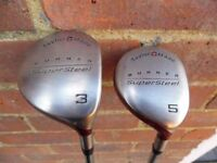 Taylormade supersteel burner fairway woods, there are two clubs 3 wood and 5 wood